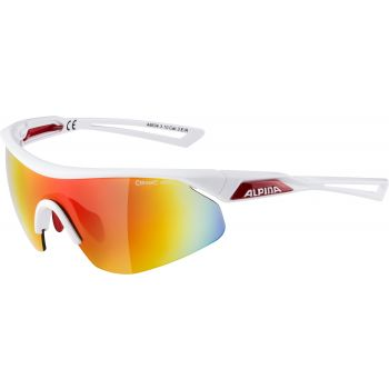 Alpina NYLOS SHIELD, biciklističke naočare, bela