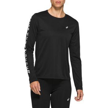 Asics KATAKANA LS TOP, ženska majica dug rukav za trčanje, crna