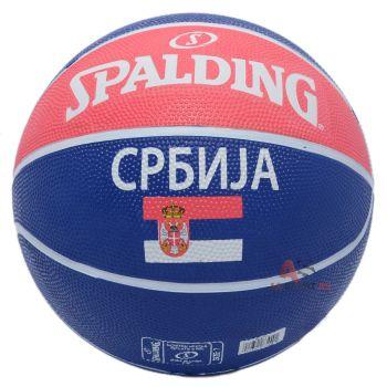 Spalding SRBIJA OUT, lopta za košarku, crvena