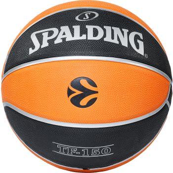 Spalding EUROLEAGUE TF150 OUTDOOR, lopta za košarku, crna