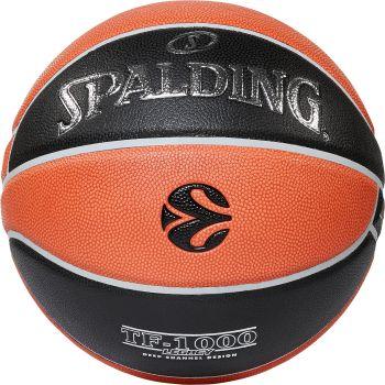 Spalding EUROLEAGUE TF-1000, lopta za košarku, crna