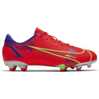 Nike JR VAPOR 14 ACADEMY FG/MG, dečije kopačke za fudbal (fg), crvena