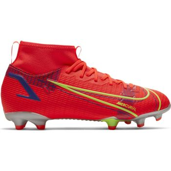Nike JR SUPERFLY 8 ACADEMY FG/MG, dečije kopačke za fudbal (fg), crvena