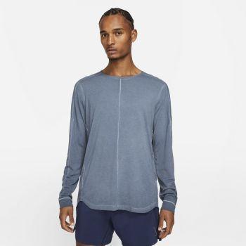 Nike YOGA LONG-SLEEVE TOP, muška majica dug rukav za fitnes, plava