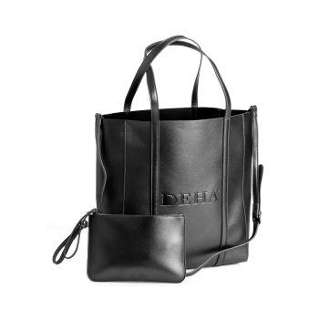 Deha METAL SHOPPING BAG, torba na rame, crna