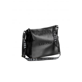 Deha METAL SHOULDER BAG, torba na rame, crna