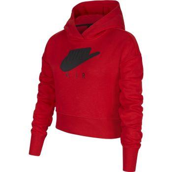 Nike AIR CROPPED HOODIE, dečji duks, crvena