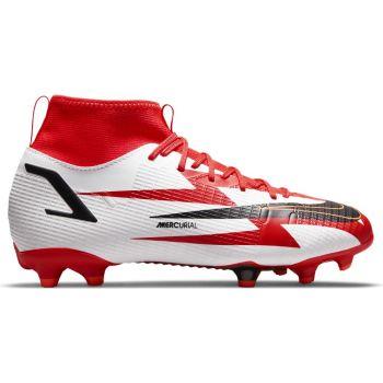 Nike JR SUPERFLY 8 ACADEMY CR7 FGMG, dečije kopačke za fudbal (fg), bela
