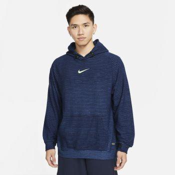 Nike PRO THERMA-FIT ADV FLEECE PULLOVER HOODIE, muški duks za fitnes, plava