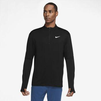Nike DRI-FIT ELEMENT 1/2-ZIP RUNNING TOP, muška majica dug rukav za trčanje, crna