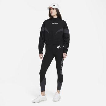 Nike AIR MOCK FLEECE, ženski duks, crna