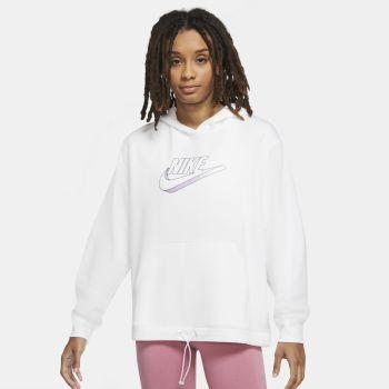 Nike SPORTSWEAR EASY FLEECE HOODIE, ženski duks, bela