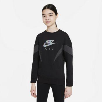Nike AIR FRENCH TERRY SWEATSHIRT, dečji duks, crna