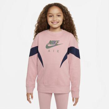 Nike AIR FRENCH TERRY SWEATSHIRT, dečji duks, pink