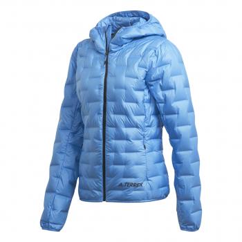 adidas W LIGHT DOWN HO, ženska jakna a planinarenje, plava