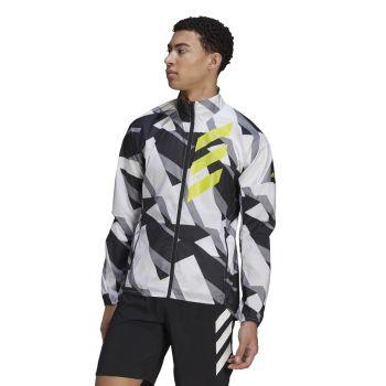 adidas AGR WIND JKT, muška jakna za trčanje, bela