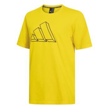adidas M FI GFX TEE, muška majica, žuta