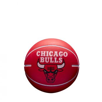 Wilson NBA DRIBBLER CHICAGO BULLS, mini lopta za košarku, crvena