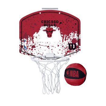 Wilson NBA TEAM MINI HOOP CHICAGO BULLS, tabla sa obručem, crvena