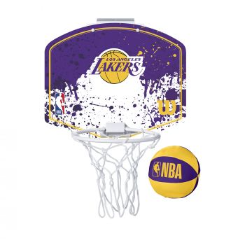 Wilson NBA TEAM MINI HOOP LA LAKERS, tabla sa obručem, ljubičasta