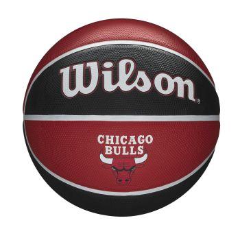 Wilson NBA TEAM TRIBUTE CHICAGO BULLS, lopta za košarku, crvena
