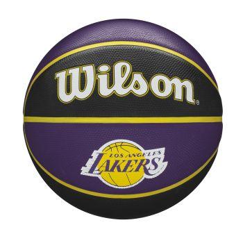 Wilson NBA TEAM TRIBUTE LA LAKERS, lopta za košarku, ljubičasta