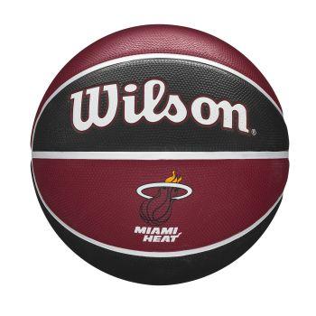 Wilson NBA TEAM TRIBUTE MIAMI HEAT, lopta za košarku, crvena