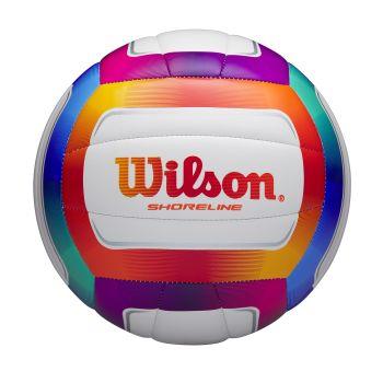 Wilson SHORELINE VB MULTI COLOR, mivka lopta za odbojku, bela