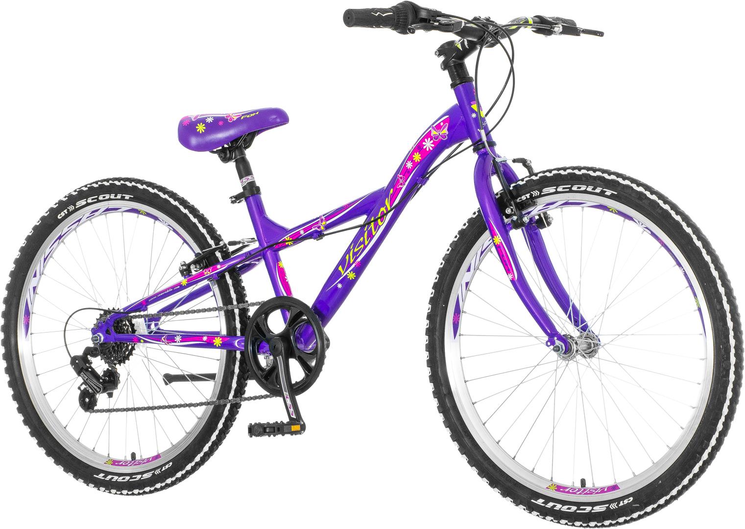 Visitor FOX 24 FOX247S6, dečiji mtb bicikl, ljubičasta
