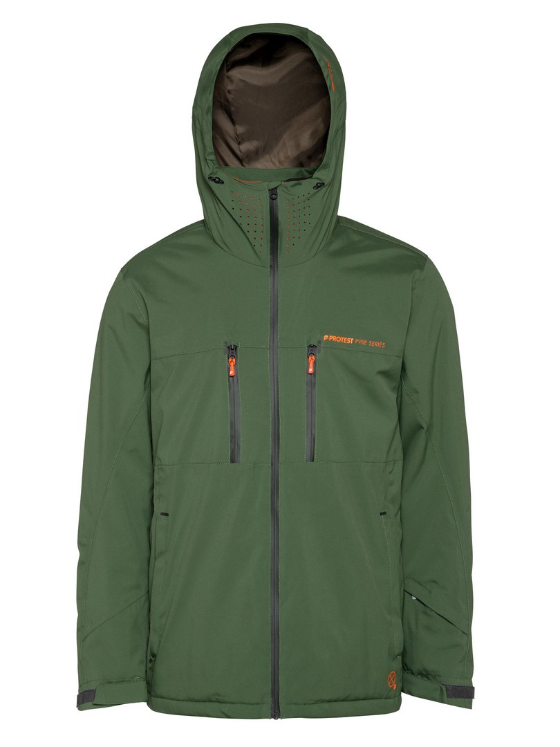 Protest CLAVIN 19, muška jakna za skijanje, zelena