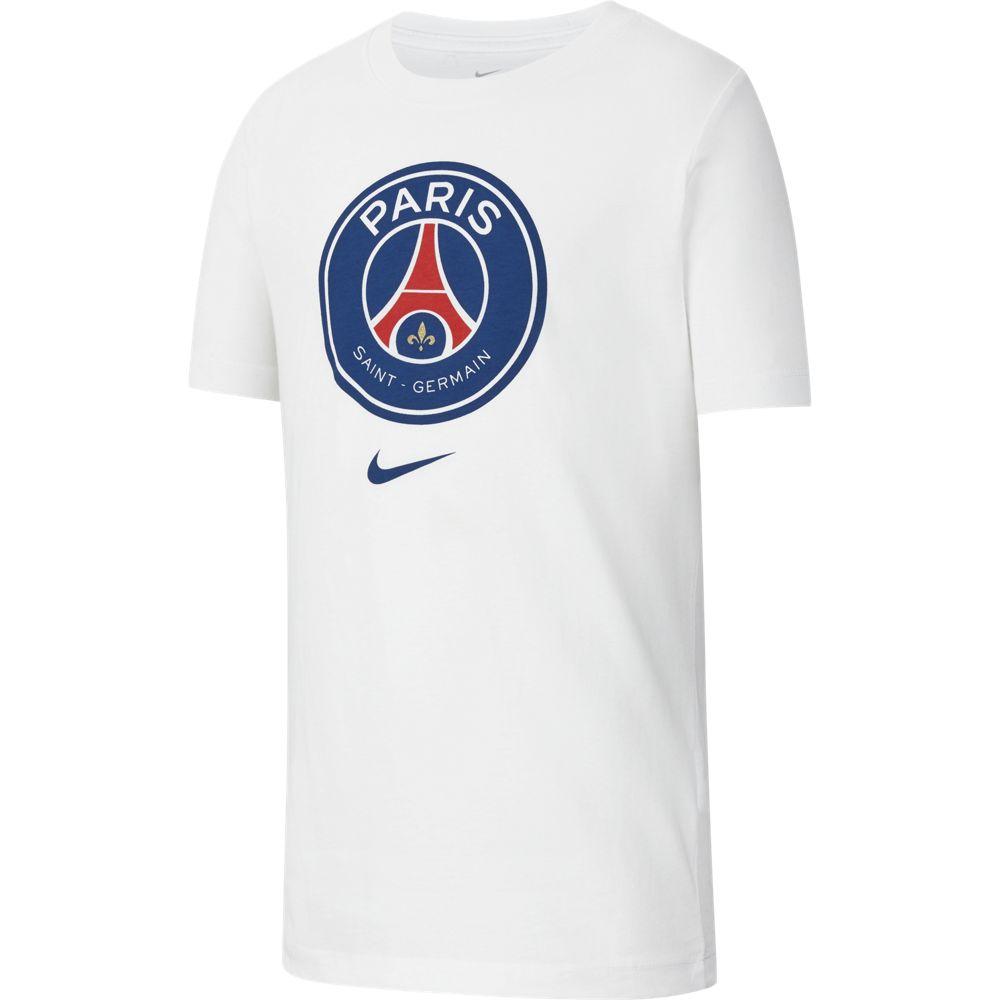 Nike PSG B NK TEE EVERGREEN CREST, dečja majica, bela