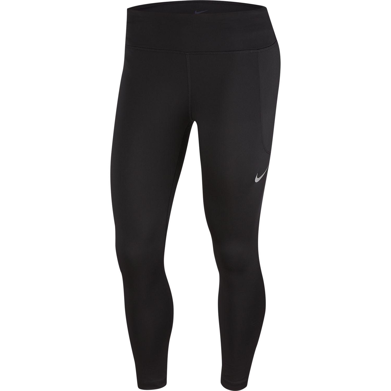 Nike W NK FAST CROP, ženske helanke 3/4 za trčanje, crna