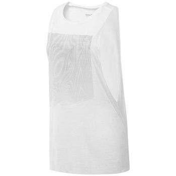 Reebok MUSCLE TANK - MOIRE GRAPHIC, ženska majica za fitnes, bela