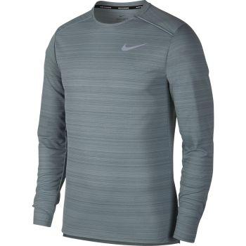 Nike M NK DRY MILER TOP LS, muška majica dug rukav za trčanje, siva