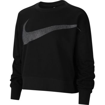 Nike DRI-FIT GET FIT WOMEN'S SPARKL, ženska majica dug rukav za fitnes, crna