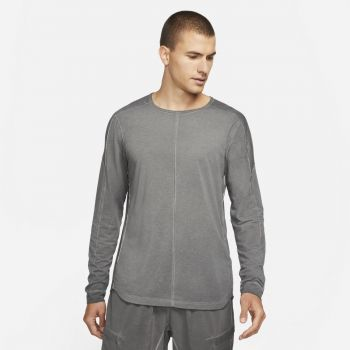 Nike YOGA NOMAD LONG-SLEEVE TOP, muška majica dug rukav za fitnes, siva