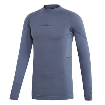 adidas KNIT LONGSLEEVE, muška majica dug rukav za planinarenje, plava