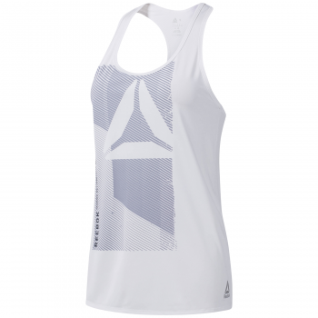 Reebok OST AC GRAPHIC TANK, ženska majica za fitnes, bela