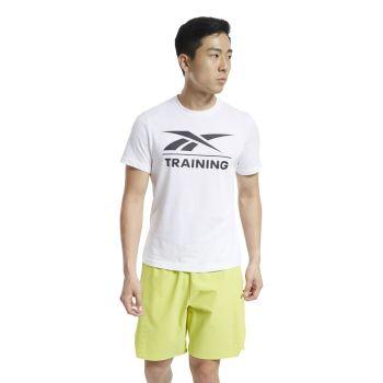 Reebok REEBOK TRAINING TEE, muška majica za fitnes, bela
