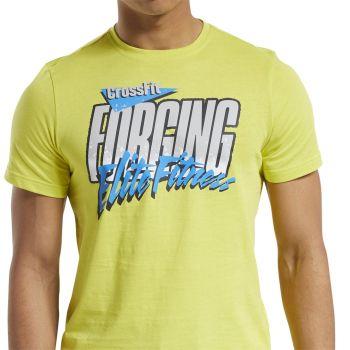 Reebok RC 90S CALI TEE, muška majica za fitnes, žuta