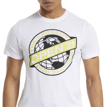 Reebok RC 2021 OPEN TEE, muška majica za fitnes, bela