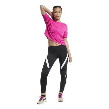 Reebok WOR LOGO TIGHT, ženske helanke za fitnes, crna