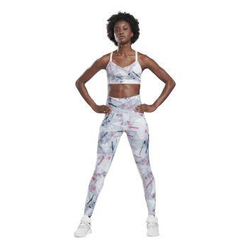 Reebok SH LUX HR 2.0 TIGHT-ELECT, ženske helanke za fitnes, dezen