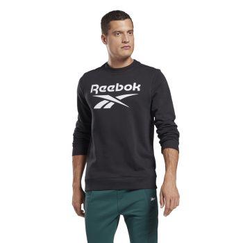 Reebok RI FT BL CREW, muška majica dug rukav za fitnes, crna