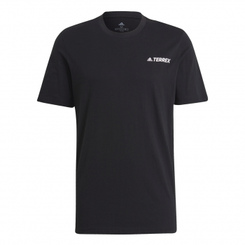 adidas TX MOUN GFX TEE, muška majica za planinarenje, crna