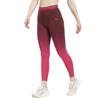 Reebok TS UBF HR SEAMLESS TIGHT, ženske helanke za fitnes, pink
