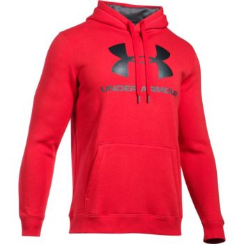 Under Armour Rival Fitted Graphic Hoodie, muški duks za fitnes, pink