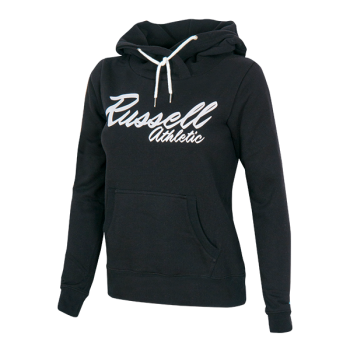 Russell Athletic Long Hoody Sweat With Big Script, ženski duks, crna
