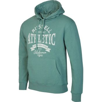 Russell Athletic PULL OVER HOODY SWEAT WITH GRAPHIC PRINT, muški duks, zelena