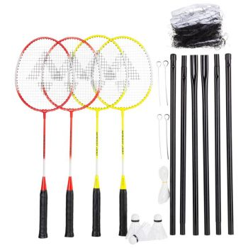 Tecnopro Speed 200/4net, badminton set, žuta